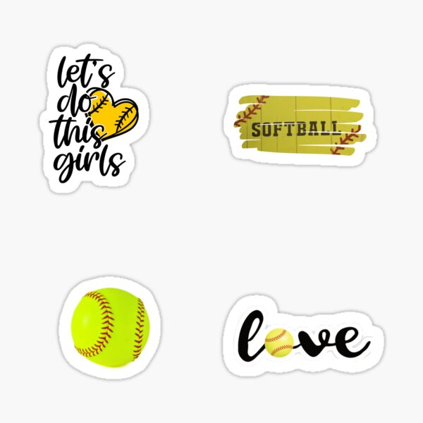 Softball sticker pack Sticker