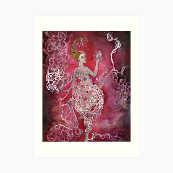 Whirlwind Girl Art Print