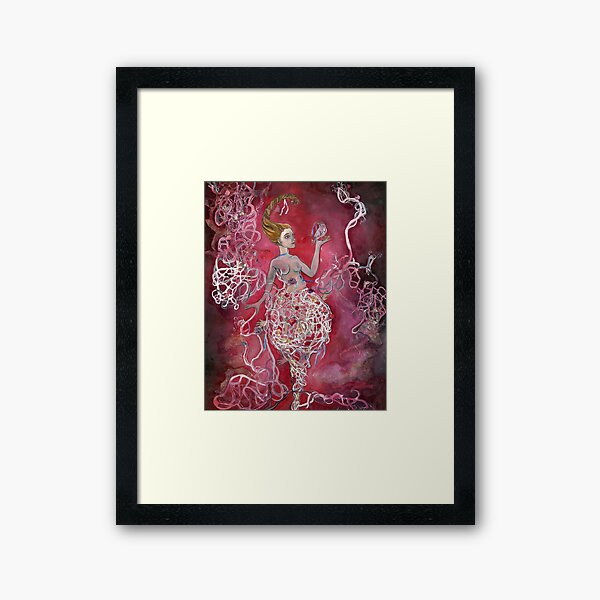 Whirlwind Girl Framed Art Print