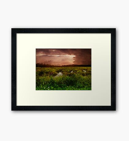 As The Storm Ends Framed Print