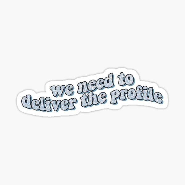 profile quote design Sticker