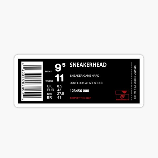 Etiqueta de caja Sneakerhead Pegatina