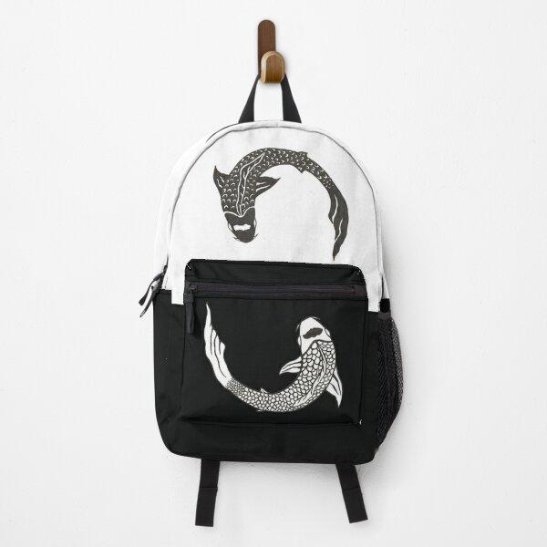 Yin and Yang Koi Fish Backpack