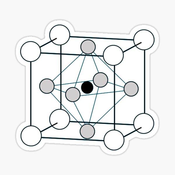 Crystal Lattice Structure Sticker