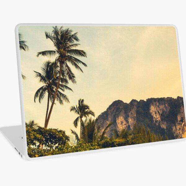 Palmtrees on the mountain side Laptop Skin