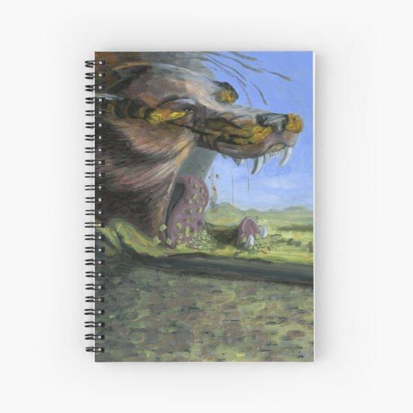Fenrir at Ragnarok Spiral Notebook