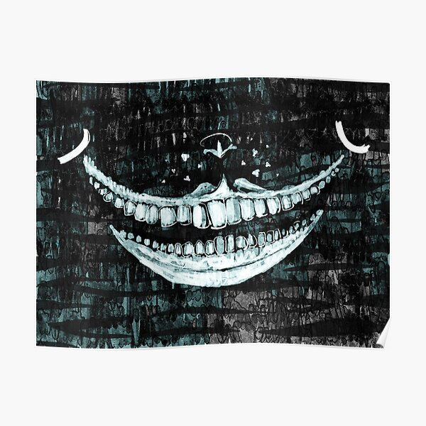 Cheshire Cat (Black and White) Poster