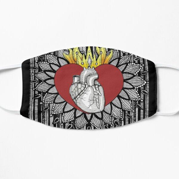 Corazon / Flaming Heart / Dia de los Muertos Mask