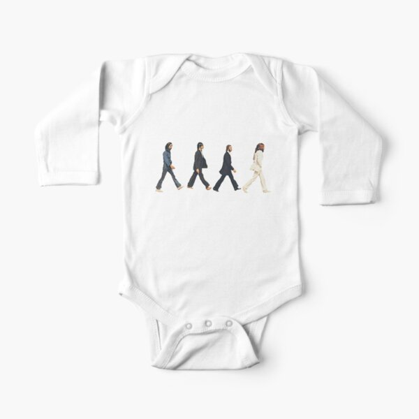 Music Icon Beatles (gray) Long Sleeve Baby One-Piece