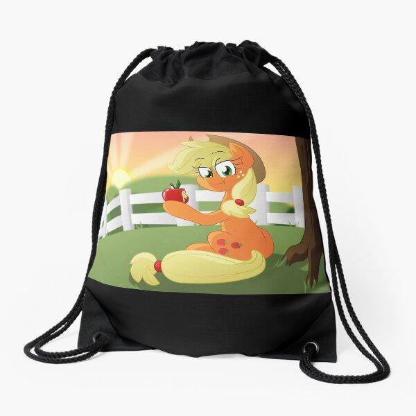 Applejack's Sunset View Drawstring Bag