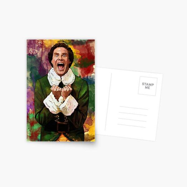 Elf - SANTA'S COMING! Postcard
