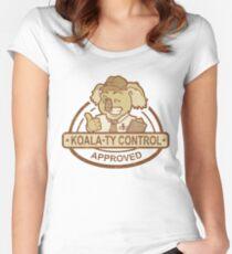 Koala-ty Control Women's Fitted Scoop T-Shirt