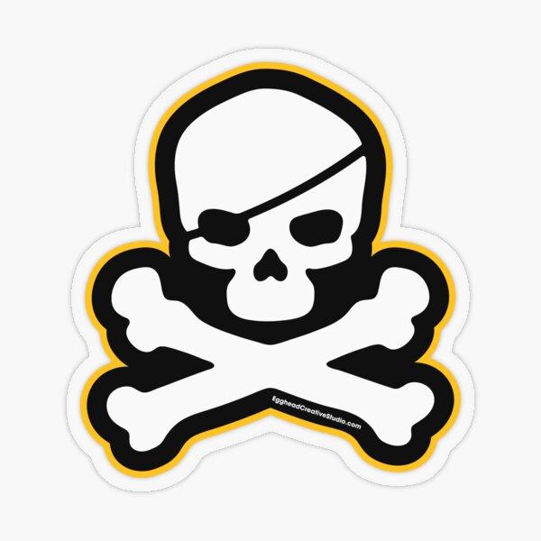 Pittsburgh Jolly Roger Transparent Sticker
