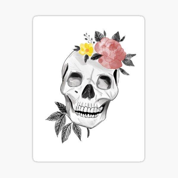 Floral Calavera Sticker