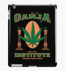 Ganja Institute - In support of medical marijuana iPad Case/Skin