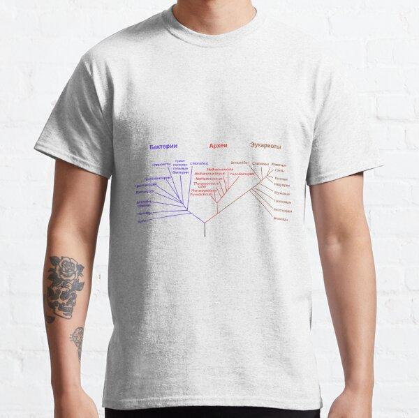 Филогенетическое древо, построенное на основании анализа рРНК, показывает разделение бактерий, архей и эукариот Classic T-Shirt