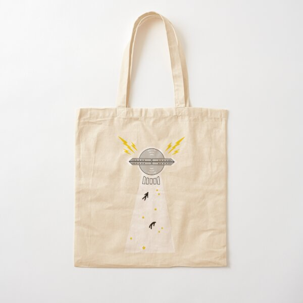 UFO ALIEN ABDUCTION Cotton Tote Bag