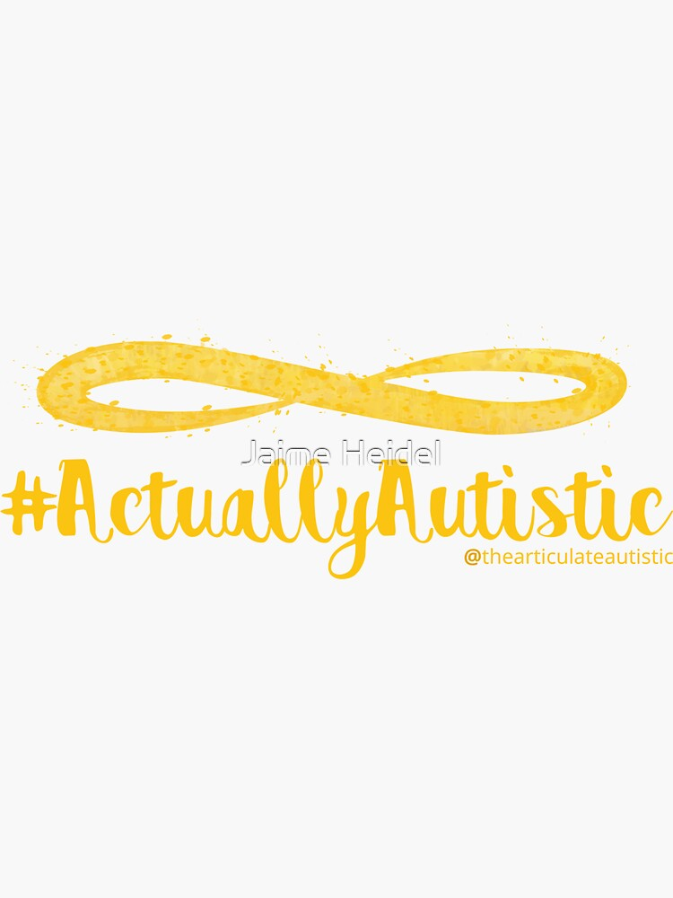 The Articulate Autistic Gold Infinity Logo by jaime06492