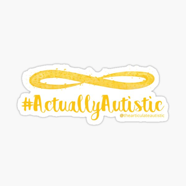 The Articulate Autistic Gold Infinity Logo Sticker
