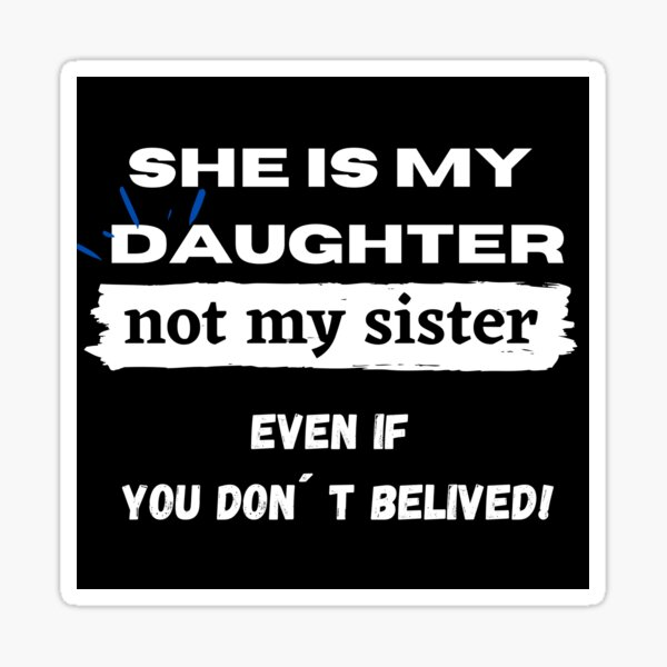 Matching T Shirts Mother and Daughter Gift Sticker