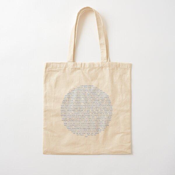 Pale Blue Dot Cotton Tote Bag