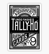 tally-ho deck of cards Sticker