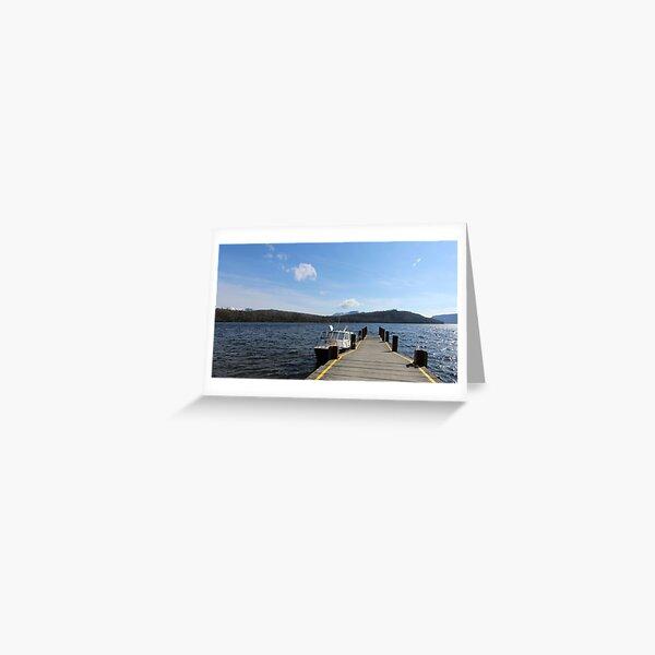 1st spring day at Lake St Clair  Greeting Card