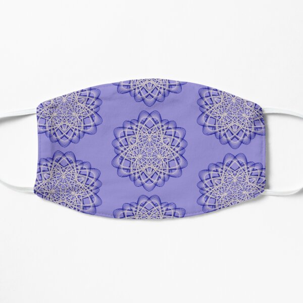 Abstract Blue Violet Atomic Swaps Flat Mask