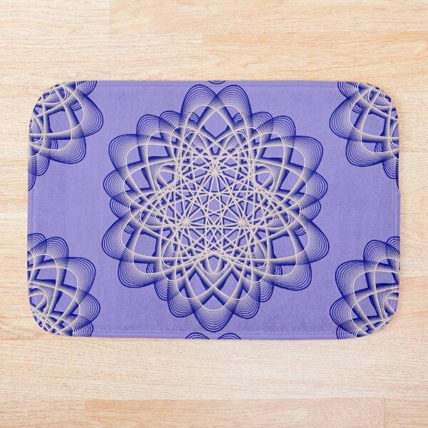 Abstract Blue Violet Atomic Swaps Bath Mat