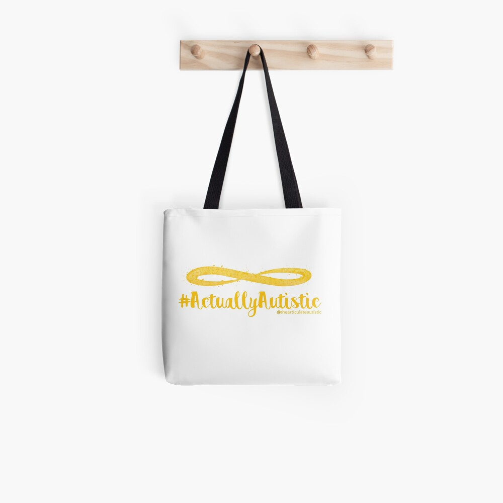 The Articulate Autistic Gold Infinity Logo Tote Bag