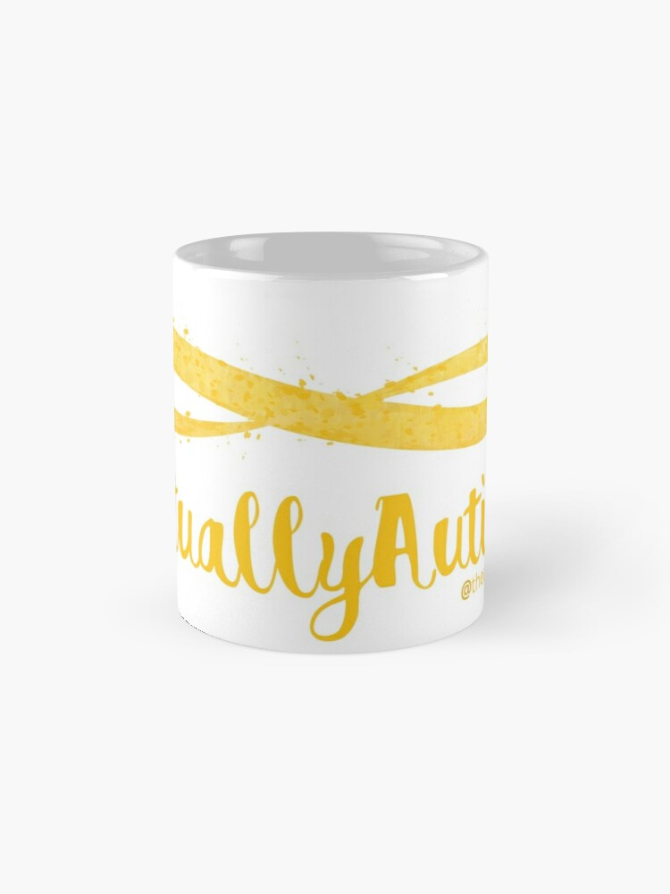 Alternate view of The Articulate Autistic Gold Infinity Logo Mug