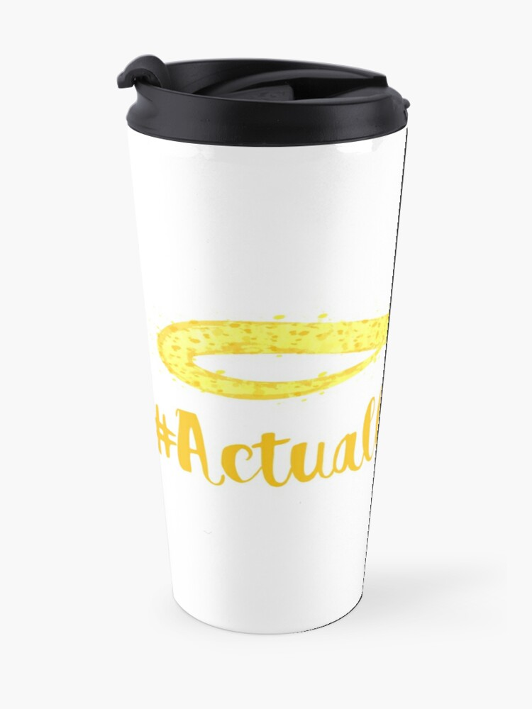 Alternate view of The Articulate Autistic Gold Infinity Logo Travel Mug