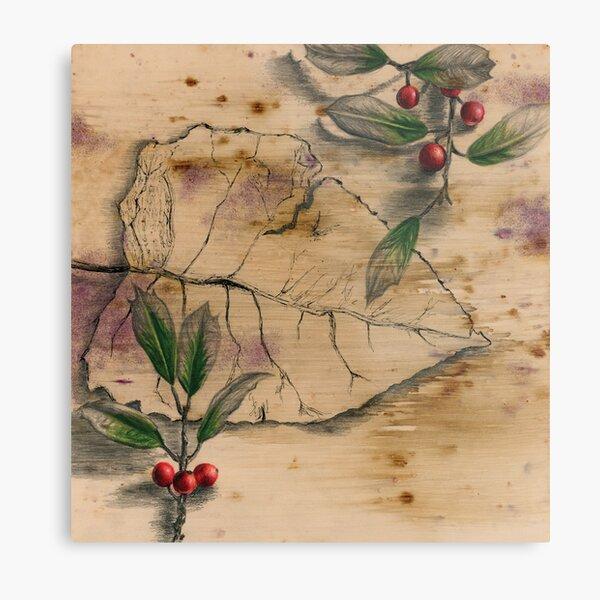 Leaf and Berries Metal Print