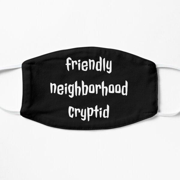 vecindario amigable cryptid Mascarilla plana