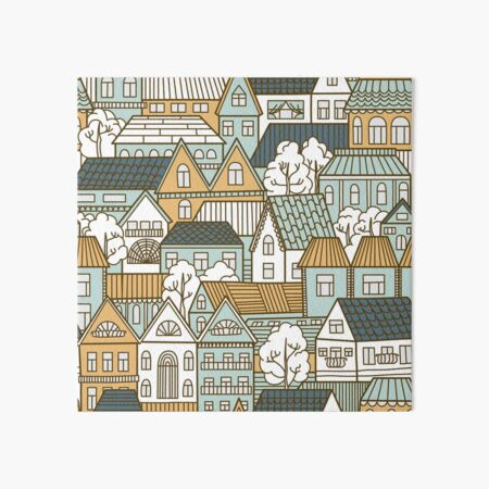 Colorful Houses Art Board Print