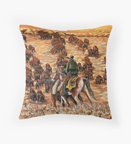 Driving The Herd, The Painting Throw Pillow