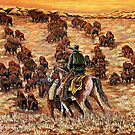 Driving The Herd, The Painting by Susan McKenzie Bergstrom
