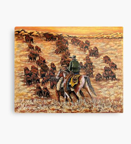 Driving The Herd, The Painting Metal Print