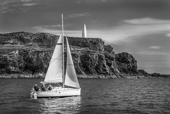 Sailing past the Baltimore Beacon by Donncha O Caoimh