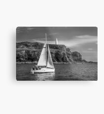 Sailing past the Baltimore Beacon Metal Print