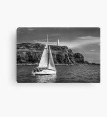 Sailing past the Baltimore Beacon Canvas Print