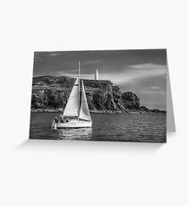 Sailing past the Baltimore Beacon Greeting Card
