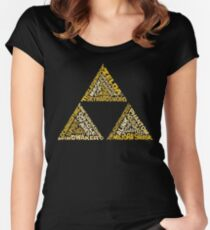 The Legend of Triforce Women's Fitted Scoop T-Shirt