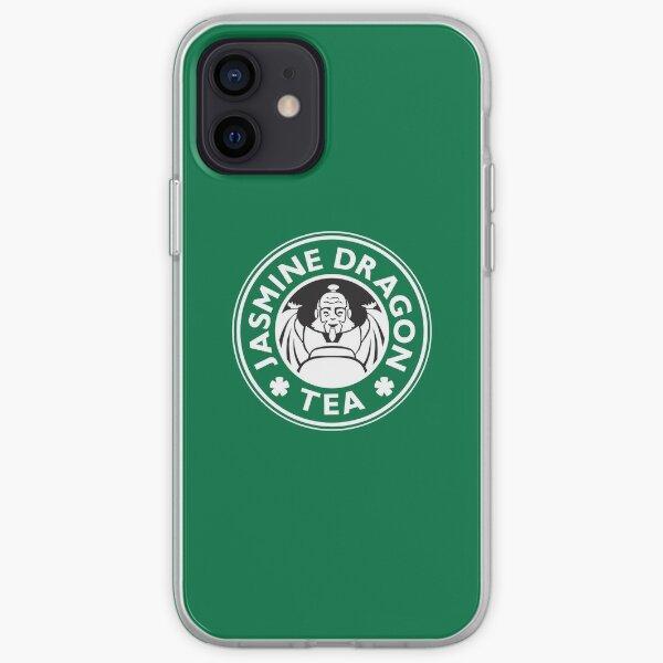 Jasmine Dragon, Uncle Iroh's Tea Shop: Avatar Starbucks Parody (Green) iPhone Soft Case