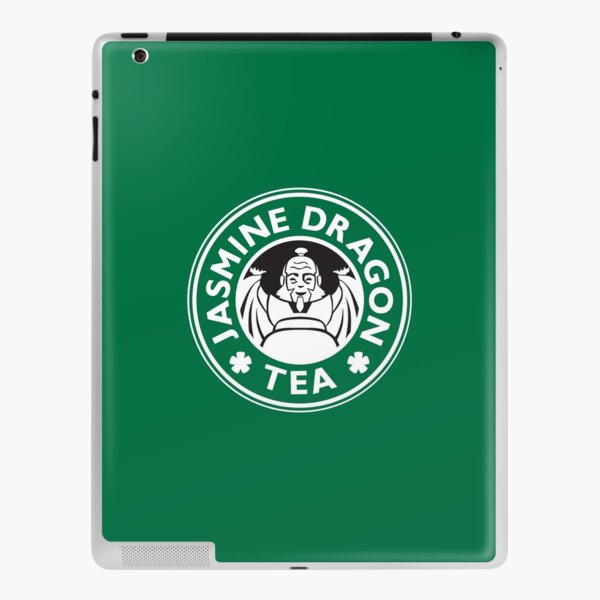Jasmine Dragon, Uncle Iroh's Tea Shop: Avatar Starbucks Parody (Green) iPad Skin