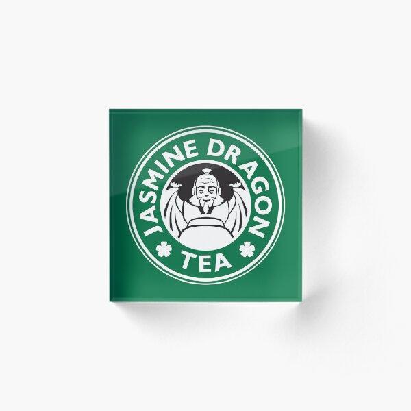 Jasmine Dragon, Uncle Iroh's Tea Shop: Avatar Starbucks Parody (Green) Acrylic Block