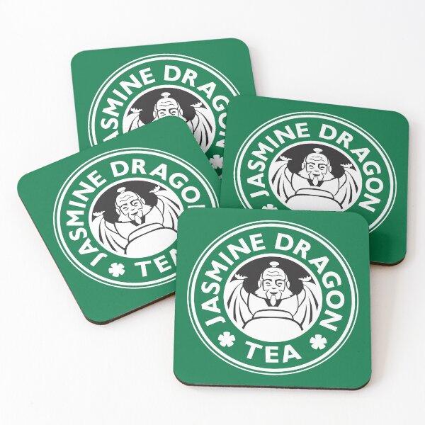 Jasmine Dragon, Uncle Iroh's Tea Shop: Avatar Starbucks Parody (Green) Coasters (Set of 4)