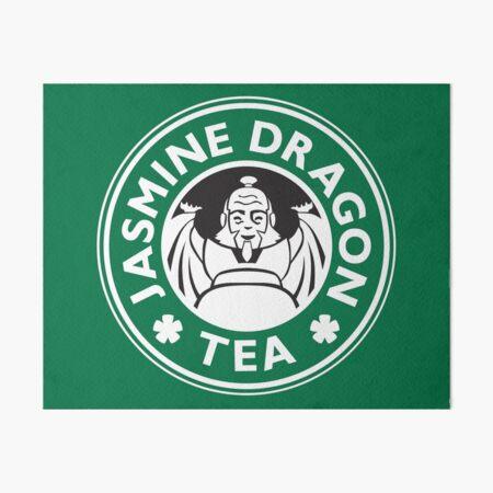 Jasmine Dragon, Uncle Iroh's Tea Shop: Avatar Starbucks Parody (Green) Art Board Print