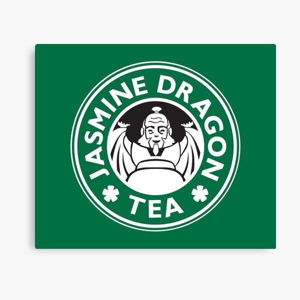Jasmine Dragon, Uncle Iroh's Tea Shop: Avatar Starbucks Parody (Green) Canvas Print