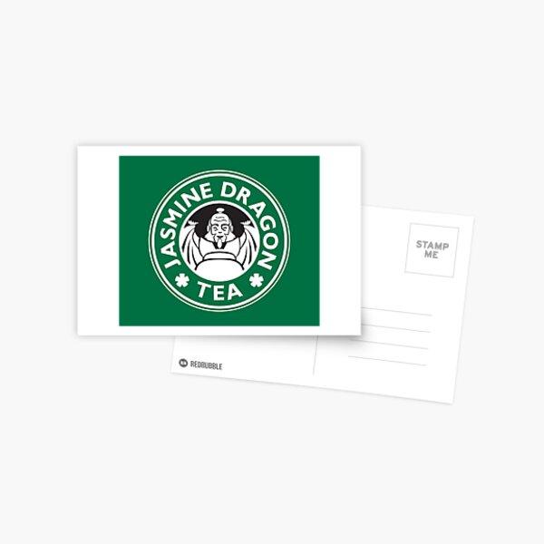 Jasmine Dragon, Uncle Iroh's Tea Shop: Avatar Starbucks Parody (Green) Postcard